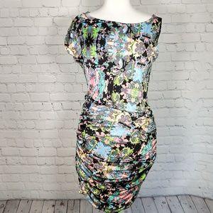 Anthro Mara Hoffman silk bodycon dress M